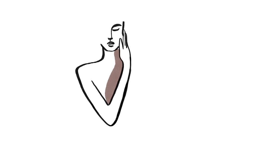 ilustrace lineart žena