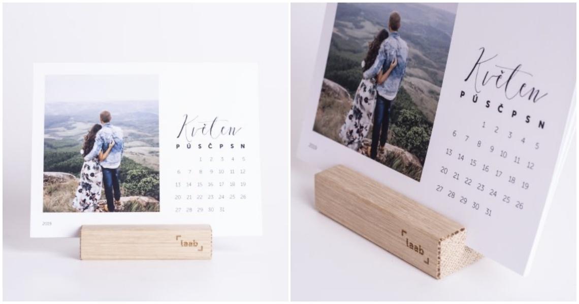 personalisovaný originální stolní kalendář laab