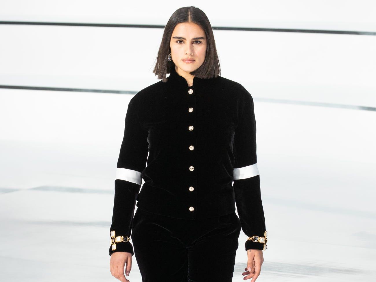 Jill Kortleve plus size modelka pro Chanel