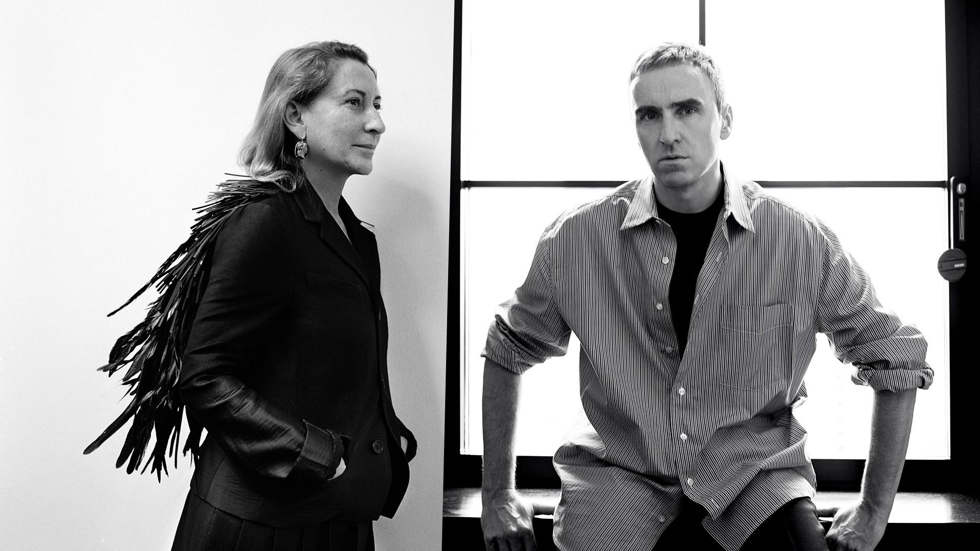 Miuccia Prada a Raf Simons