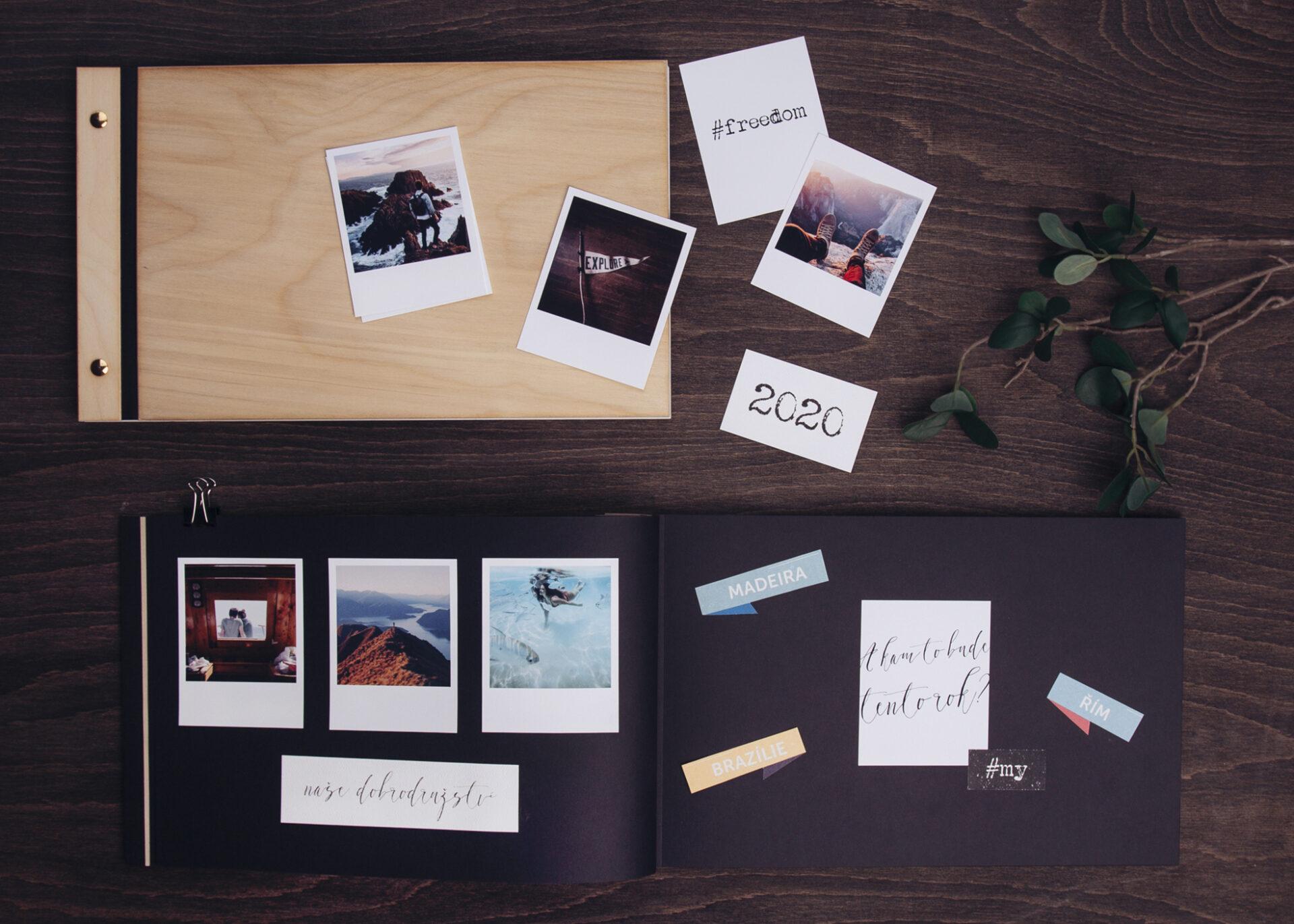 polaroidové album laab