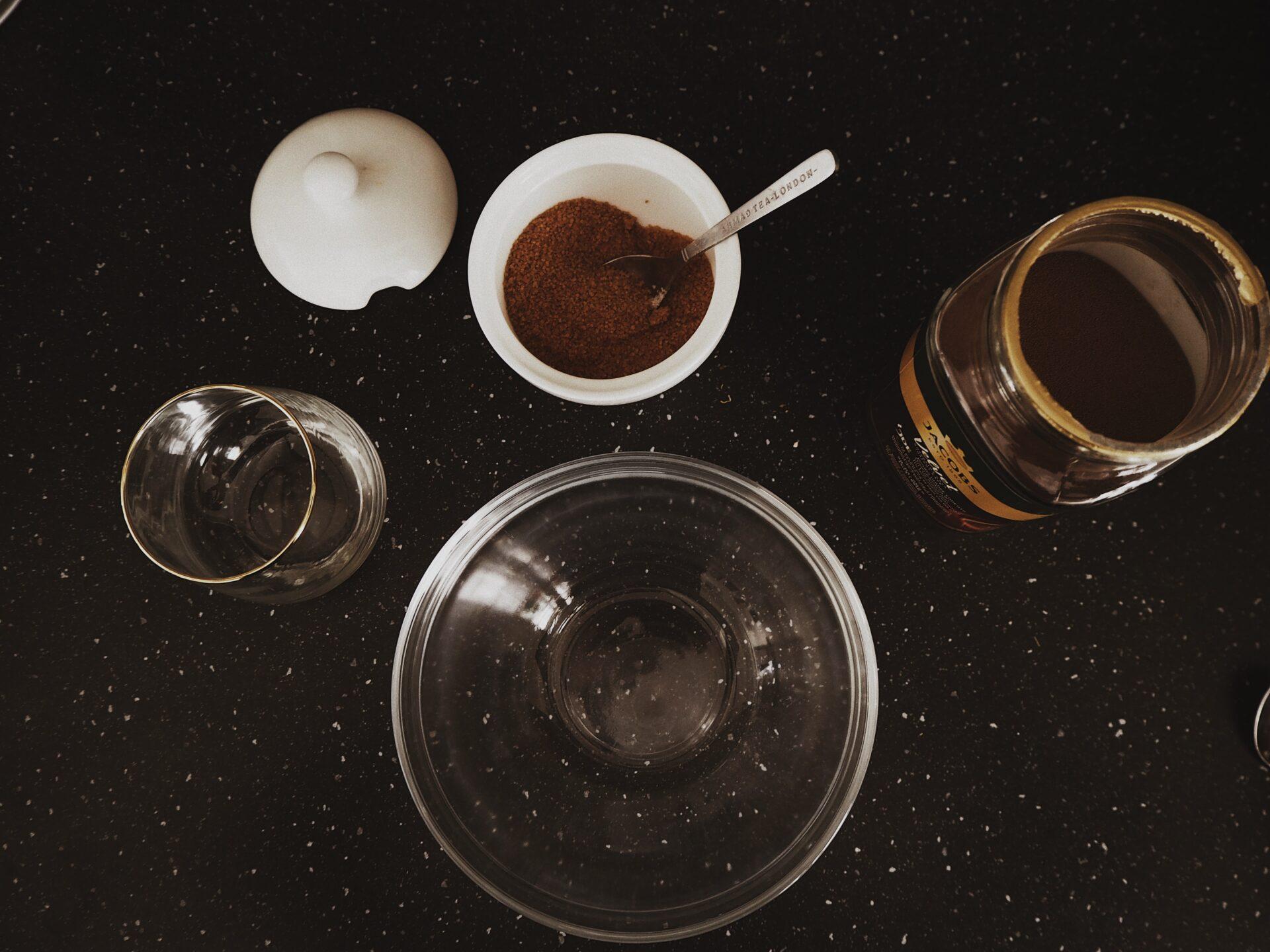 dalgona tik tok kafe recept ingredience