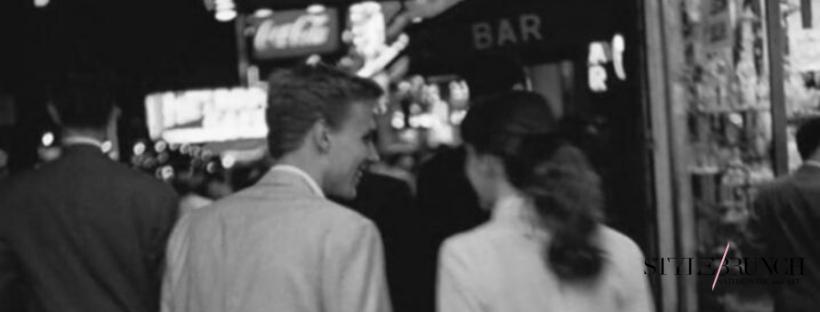 měsíc vztahů muž a žena vintage foto