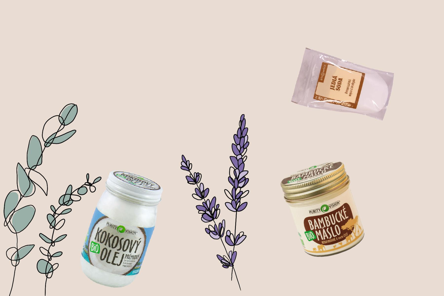 domácí kosmetické produkty diy ilustrace krémový deodorant