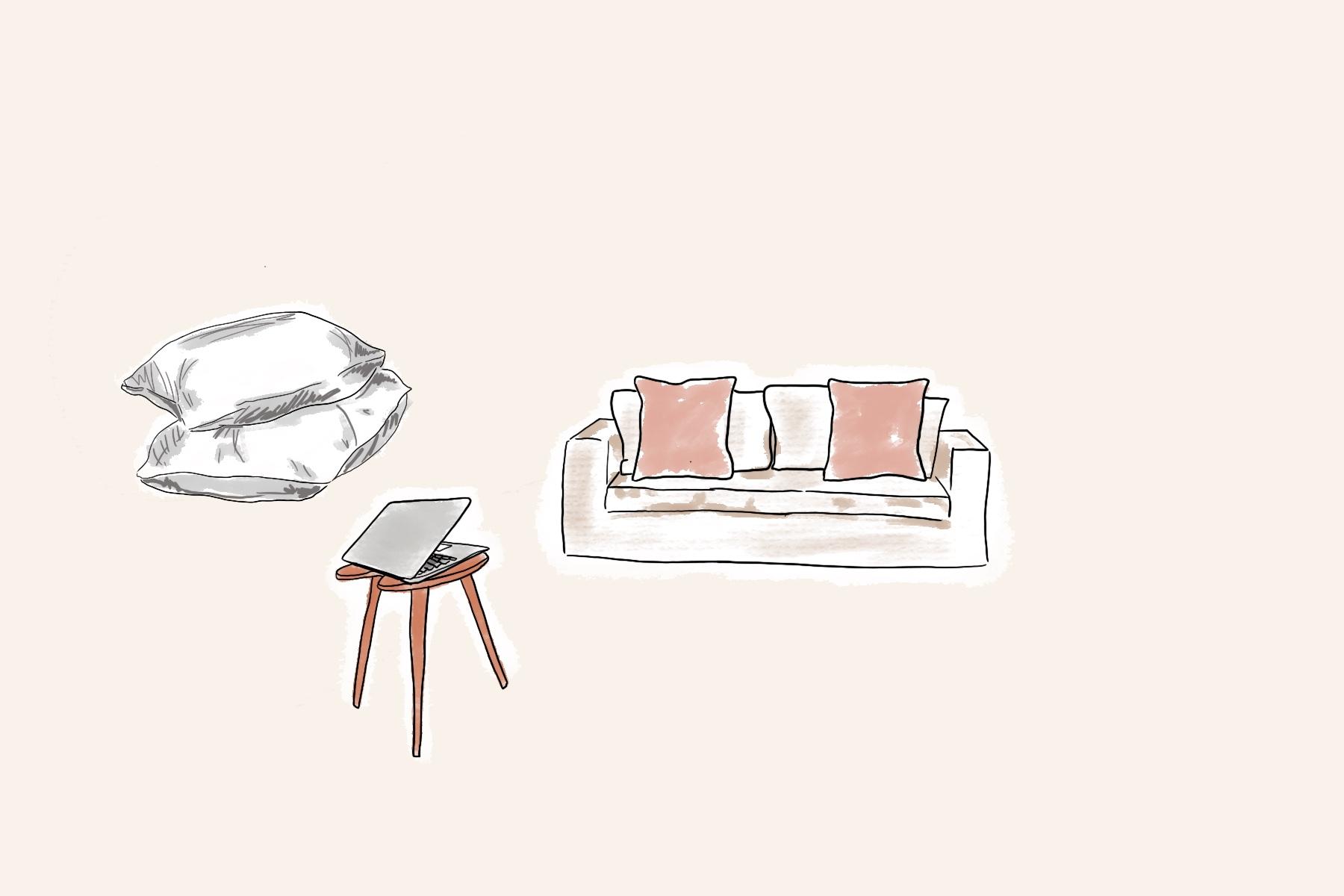 jak často uklízet ložnice jak často prát povlak na polštář jak často umývat notebook ilustrace