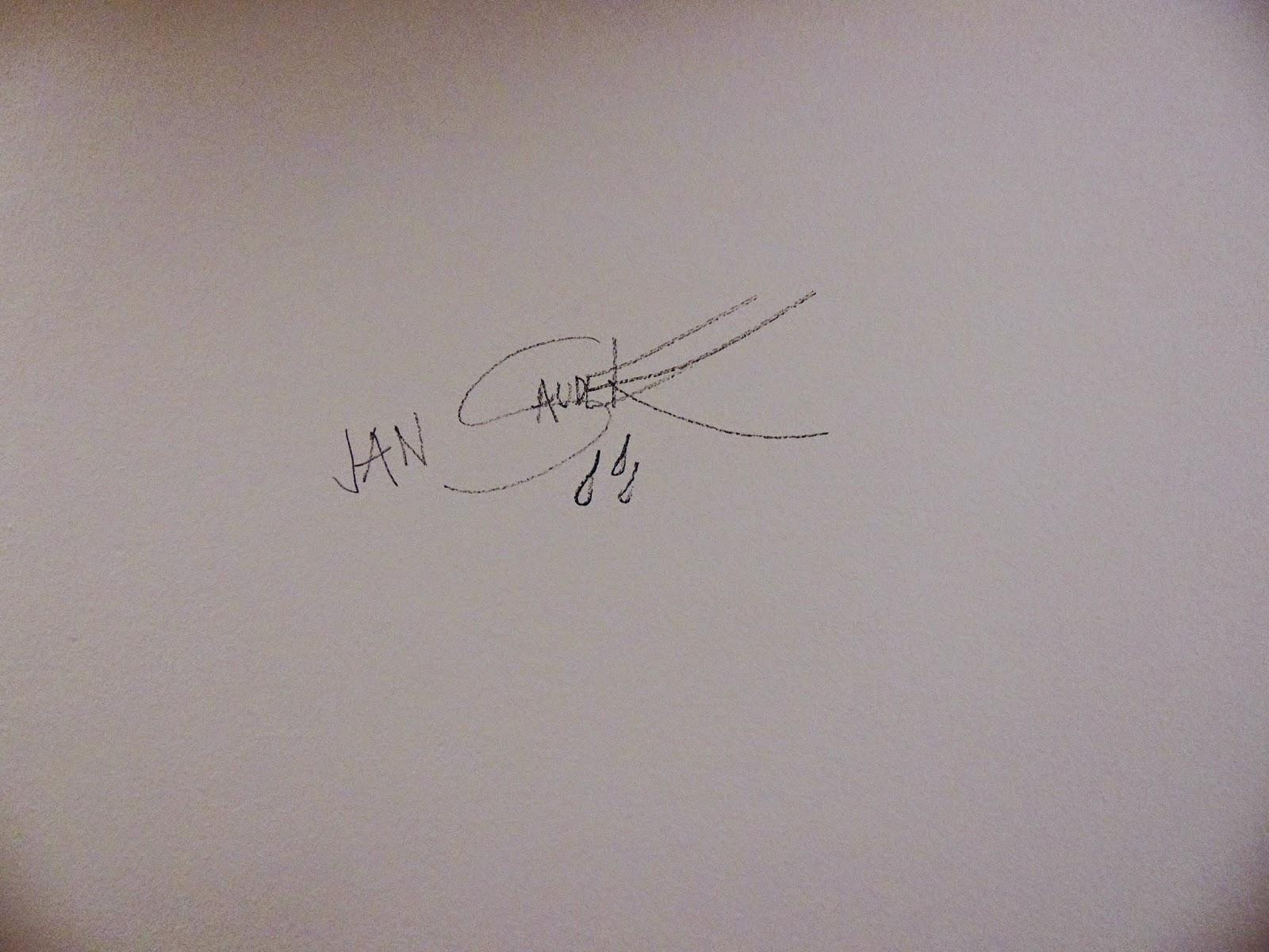 Jan Saudek podpis