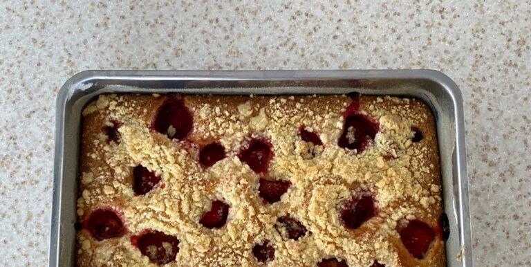 Jahodový koláč s drobenkou recept