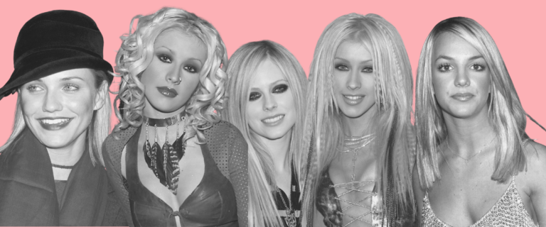 2000s kosmetické trendy celebrity